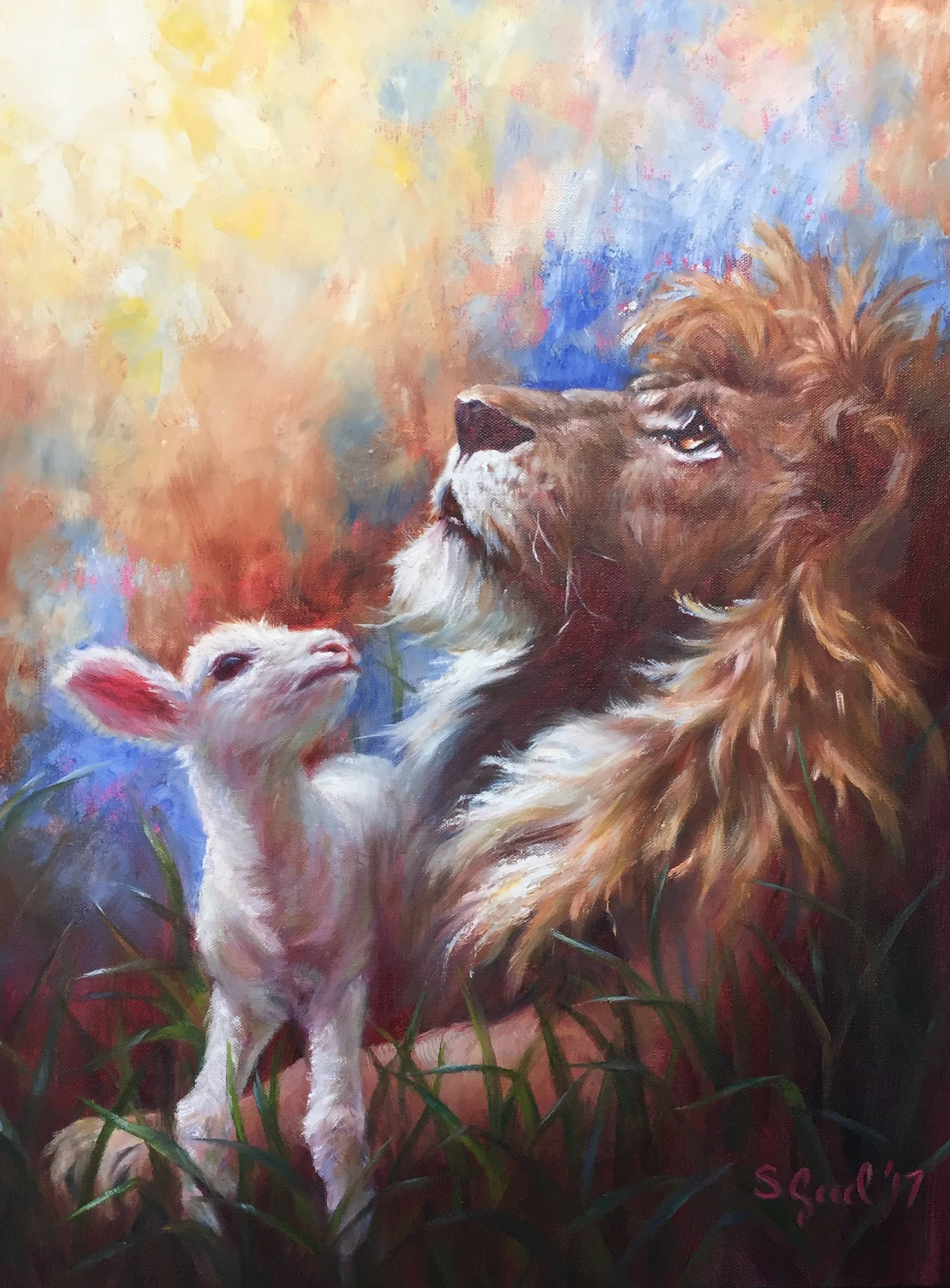 Recent Works – Sarah K. Good for Lion And Lamb Painting  539wja